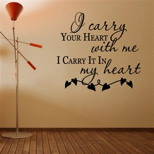 I carry your heart with me I carry it in my heart