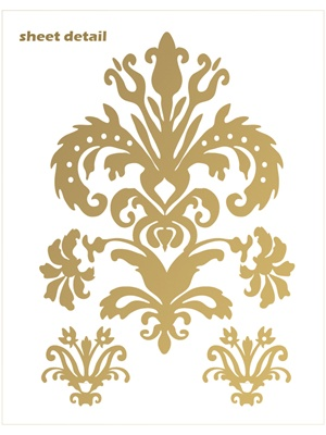 Damask wall decals stickers
